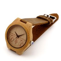 Wholesale Hot Sale Wood Watches Bamboo Watch with Genuine Leader Luxury Watches Wooden Wristwatch