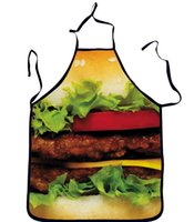 bbq party food - Hamburger Donuts Food Printed Funny Apron Casual Kitchen Cooking Home BBQ Apron Party Gift