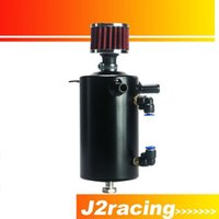 Wholesale J2 RACING STORE UNIVERSAL BREATHER TANK OIL CATCH CAN TANK WITH BREATHER FILTER L PQY TK10BK