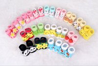 baby doll booties - Cartoon Baby Booties Fine Cotton stereo modelling antiskid doll socks Girls and boys boots Newborn baby shoes colors can choose Sale
