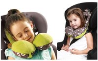 Velvet baby headrest for car seat - convenient baby safety car pillow headrest children travel seat cushion neck care pillow cute animal for years