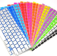 Wholesale 2015 Sale Real Waterproof Keyboard Cover for Apple for Macbook Air Pro13 Inch Color Laptop Keyboard Membrane Protective Film