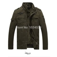 army airborne - Fall Airborne Division Fur Cashmere Jacket Colors German Air Force Pilot Style Coat Army Warm Bomber Jackets