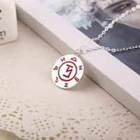 asian instruments - City of Bones necklaces The Mortal Instruments red Rune charm tag pendant necklace unisex link chain statement movie jewelry BY DHL