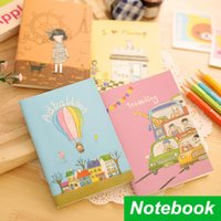 Wholesale 12 Notebook Illustration diary book Girl Flower notepad Gift caderno stationery papelaria agenda School supplies