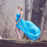 Wholesale Maternity Gown Dress Photo Prop Pregnancy Maternity Dress Off The Shoulder See description for coupon