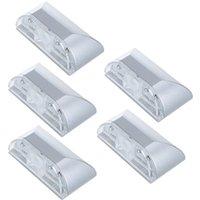 Al por mayor-Led del Sensor de Movimiento de la Lámpara Auto PIR ojo de la Cerradura de la Puerta Sensor de Movimiento Detector de Luz LED de la Lámpara de Plata Para 1*batería AA 4Leds lámpara de noche