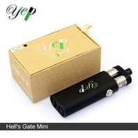 Cheap Single Vaporizer Hell's Gate mini mods Best Black Silicon Dual 18650 Battery Hell's Gate mini mod