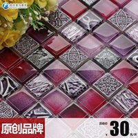 Wholesale Blancpain Amalfi Zhendian crystal mosaic glass tile puzzle backdrop Continental purple B150618
