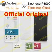 achat en gros de elephone téléphone-Gros-Elephone P8000 verre trempé Case officiel origine Screen Protector Film de téléphone de 100% pour Elephone P8000 en stock Livraison gratuite