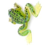 Зеленые дешевые рыболовные приманки Lifelike Frog Style Без крючков Приманки для рыбалки Приманки Мягкие приманки 40 мм Мягкие ПВХ материалы для рыбалки