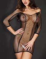 women sexy dresses - Hot Sale Sexy Exotic Dresses Seamless Fence Fishnet Sexy Costume Women Nightwear Lingerie Babydolls Chemises B6112
