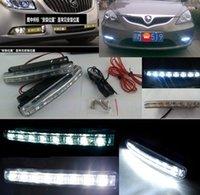 Wholesale brightness light v dc LED High Power DRL White Car Auto Head Lights Daytime Running Light