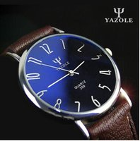 acrylic end tables - 299 Korean version of the high end leisure and business belt waterproof watch lovers watch male table retro classic blue slim