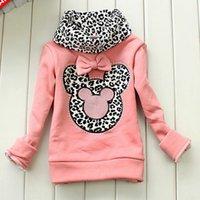 Wholesale Children Garment Baby Girls Clothes Kids Spring Autumn Winter Hoodies Outwear Girls Cartoon Mickey Coats Warm Clothing