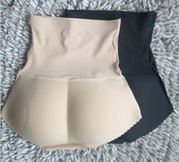 Bodysuit butt pads - 2015 Charming Sexy Women high waist padded seamless butt hip enhancer body shaper panties Underwear