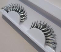 arena international - pairs PC35 White Zebra Halloween Masquerade international arena zebra false eyelashes eye tail lengthened Art