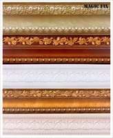 Cheap PVC Waterproof waistline wallpaper rolls skirting wall paper borders tile stickers for home decor Wallpaper border