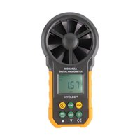 Wholesale LCD Digital Anemometer Wind Speed Meter Air Flow Tester Backlight HYELEC Hot New Arrival