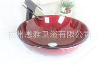 Wholesale Hot models Art glass basin vanity kit bath tub glass basin Ware N
