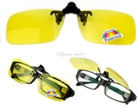 Wholesale New Hot Clip on Flip up Lens Polarized Day Night Vision Sunglasses Driving Glasses S M L