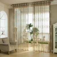 curtain voile - White Grey Luxury European Jaquard Semi sheer Curtains Customer made Living Room Voile Sheer Curtain Drape Panel Tulle For Window Height