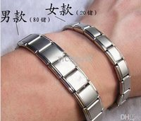 Wholesale Woman Men Two styles Energy Magnetic Titanium Nano Energy Magnetic stone Titanium Germanium Bracelet Pain Relief Powerfull