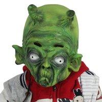 aliens prop - Creepy Costume Party Full Head ET Alien Dragon Ball Bick big devil king Latex Mask Mythology Fancy Prop