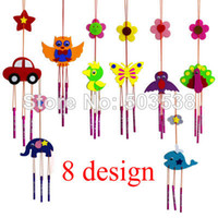 aeolian bells - 50PCS DIY fabric aeolian bells craft kits Handmade felt wind chime Kids crafts Early educational toys design x40cm Stock
