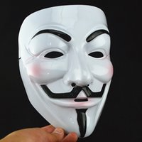 Wholesale V Mask Halloween Mask Masquerade Masks For Vendetta Anonymous Valentine Ball Party Full Face Super Scary Guy Fawkes Masquerade party Mask