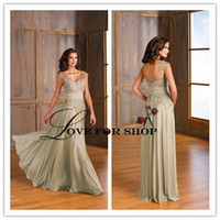 mother of the bride dresses - Fashion Vestido Sleeveless Ruched Plus Size Formal Dress Applique Mother of the Bride Dress Chiffon Mother s Dresses WH01