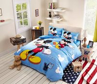 mickey mouse bedding - 2015 Hot Sky Blue Mickey Mouse Comforter Set Classic Mickey Mouse Bedding Comforter Sets Sale