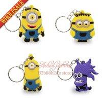 action news - Good News Despicable Me PVC Classic Fashion Model Minions Action Figure Keychain Car Keyring Pendants Anime Toy Gift