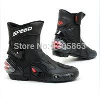 motocross boot - new SPEED Motorcycle boots motorbike Racing leather Boots Motocross short boots waterproof SIZE