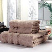 Wholesale Bamboo Fiber Piece Towel Set Gram High Water absorbent Antibacterial Bath Towel Machine Washable Dryable Grey Brown Purple x55inch