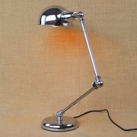 Cheap Wrought iron Jane Europe contracted study desk lamp long arms folded the desk lamp that shield an eye offlce desk lamp learning work light