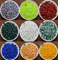 Wholesale Pearl Jewelry Fashion Beautiful DIY and Manual Jade Beads Hot Fruity and Sleek More Color Agate Round Pearl Natur
