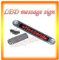 Wholesale V LED Message Digital Moving Scrolling English Car Sign Light Red color DOTS