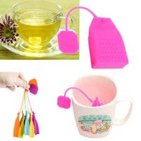 Wholesale Silicone Reuseable Tea Strainer Herbal Spice Infuser Filter Diffuser Kitchen