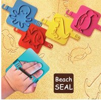 Wholesale 2016 Sand Beach Seal Boys Girls Kids Children Playing Animals Sands Stamp Octopus Fish Penguin Dinosaur Toys signet Seal