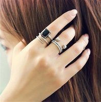antique style diamond rings - Simple Style Black Diamond Rings Antique Silver Gold Plated Arrows Winding Ring Womens Ladies Fashion Jewelry Handmade Chirstmas Gifts K56