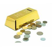 bank modeling - Geometric Modeling Simulation BRIC Gold Bars Piggy Bank ABS Plastic Golden Money Safe Coin Bank for Kid