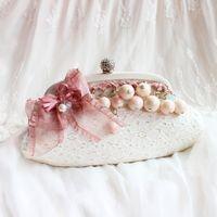 beautiful messenger bags - Formal Beautiful Pearl Bridal Hand Bag Women Bridal Mini Handbags Wedding Party Faux Pearl Rhinestone Decor Shell Tote Hobo Messenger ZYY