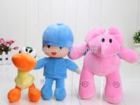 bandai wholesale - 3pcs cm inch bandai plush Pocoyo ELLY PATO Soft Plush Stuffed Figure Toy Doll retail