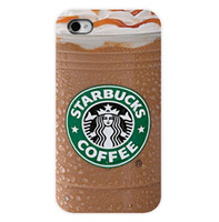 Wholesale New Arrival New Starbucks Ice Coffee Girl Protective Hard Mobile Phone Case Cover For Iphone S S plus