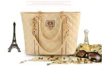 Wholesale Paris Hot Elegant Women Lady Celebrity Handbag chain plaid Shoulder Hand Bag TB124