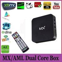 1GB 8GB Black NEW Original MX2 Amlogic MX Android TV G BOX Full Loaded AML8726 iStream XBMC Smart Google Droidbox KODI Helix G-Box Media Player 1GB 8GB