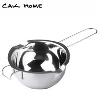 Wholesale stainless steel Chocolate warmer melting pot butter warmer pot chocolate fondue sets