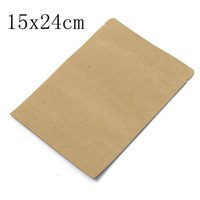 Wholesale Promotion x24cm Stand up Kraft Paper Food Gift Ziplock Bags Aluminum Foil Pouch Self Sealing For Sale