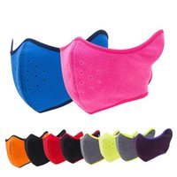 Wholesale Fleece Half Cover Face Ski Mask Wind Resistant Winter Snow Thermal Earmuff Face Mask